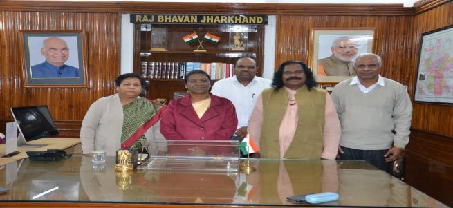 Meeting with honble governer of jharkhand