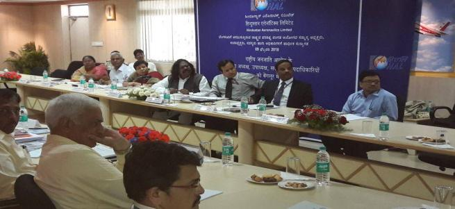 Review implementation meeting with  HAL & canara bank