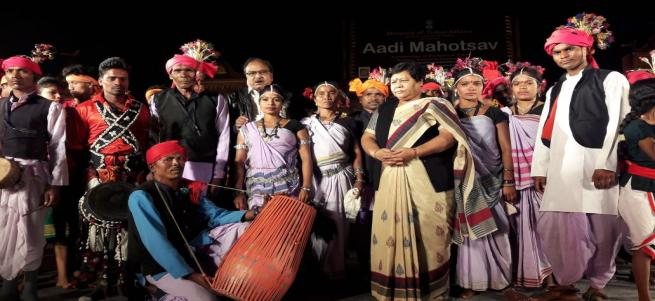 Tribal festival AADI MAHOTSAV delhi haat.
